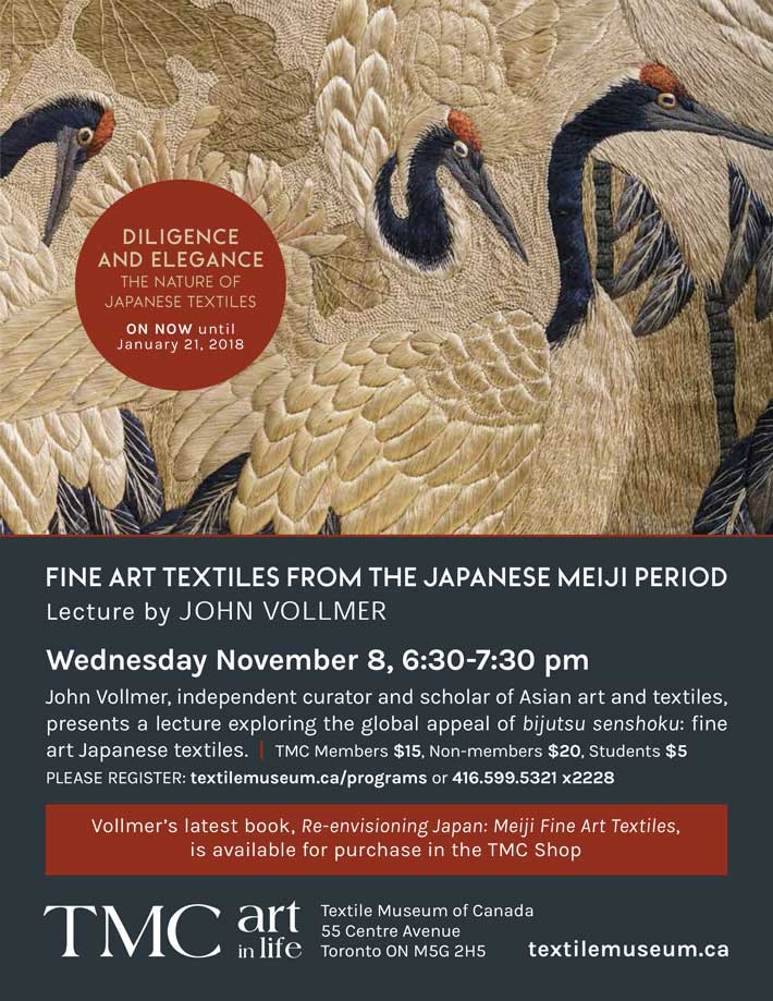 Fine Art Textiles from the Japanese Meiji Period, Lecture by John Vollmer